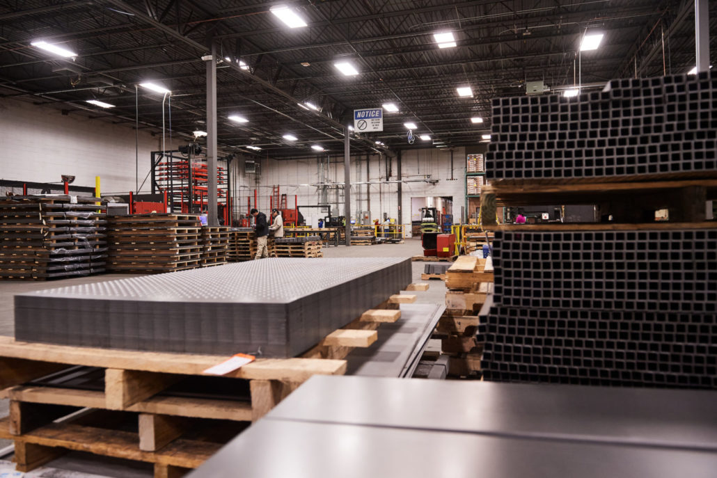 Manufacturing Display Racks at New England Wire Products - 0169