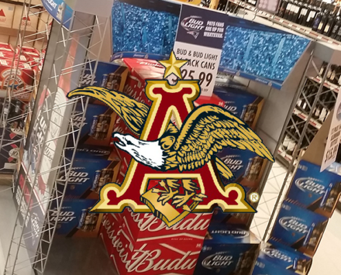 NEWP'S CREATIVE, INTERACTIVE IN-STORE BEVERAGE STADIUM DISPLAYS FOR SUPER BOWL BECOME PERMANENT SALES VEHICLES FOR DRIVING ANHEUSER-BUSCH SALES ACROSS THE COUNTRY; EXECUTES ON FAST TURNAROUND